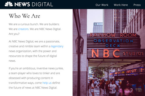 NBC News Digital Careers